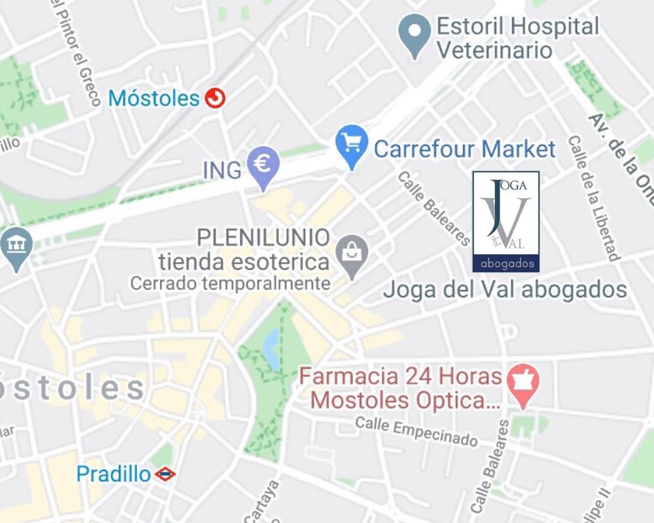 Mapa contacto Joga del Val abogados